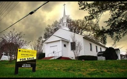 """""""Between 6,000 and 10,000 churches in the U.S. are dying each year"""" – and that means that over 100 will die this week"""