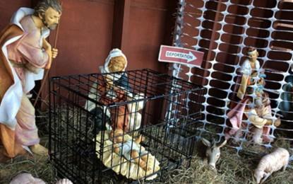 Catholic Church In Massachusetts Nativity Scene Puts Jesus In A Cage