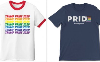 Both Trump and Biden Official Sites Selling Rainbow 'Pride' Apparel